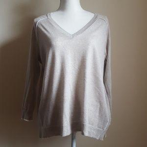J.crew Heather Gray Merino Wool Sweater Size M